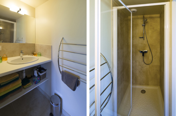 Gite Buis du Creux Salle de bain rez de chaussée