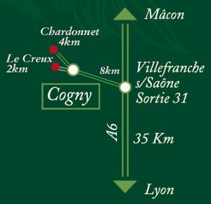 Plan acces Buis Chardonnet Buis du Creux Cogny