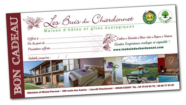 Bon cadeau Les Buis du Chardonnet